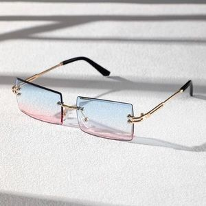 Shein   NWT Rectangle Lens Rimless Sunglasses